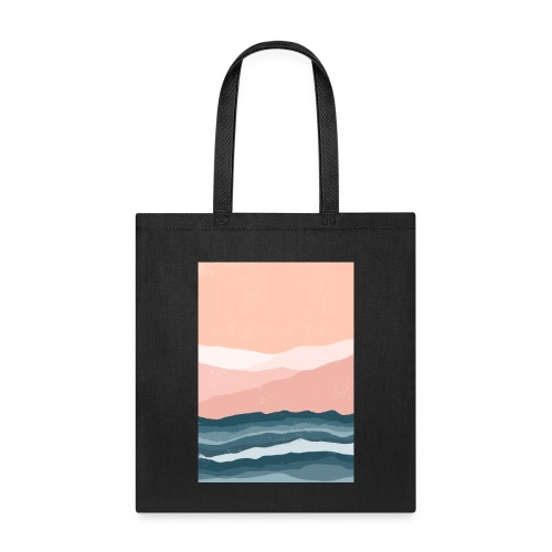 Abstract Waves Landscape Print Tote Bag - Tote Bag
