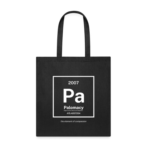 Palomacy: the Element of Compassion (white) - Tote Bag