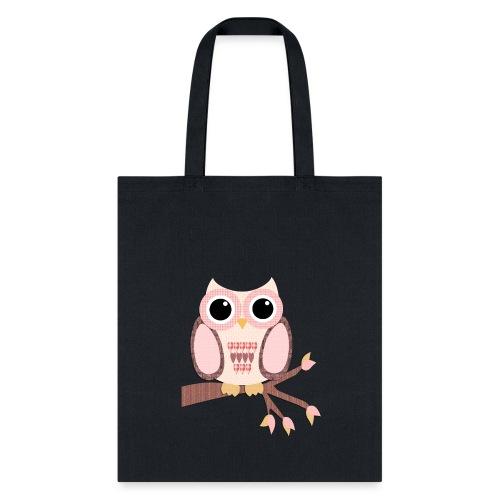 Tree Top Pink Owl - Tote Bag
