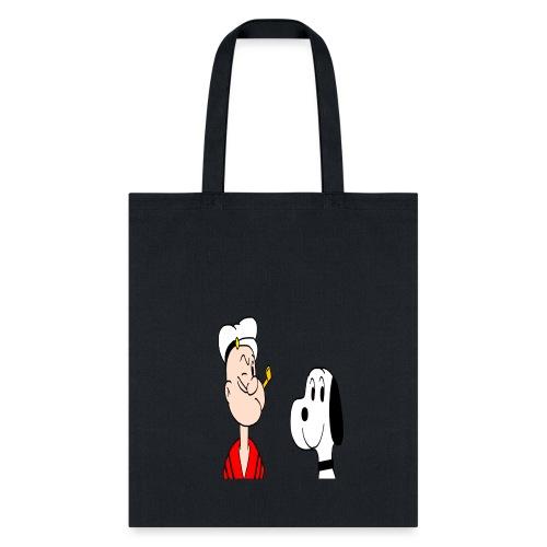 snoopy casper popeye cartoon snoopy - Tote Bag