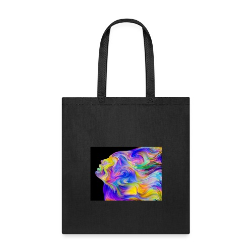Abstract Contrast Hoodie - Tote Bag