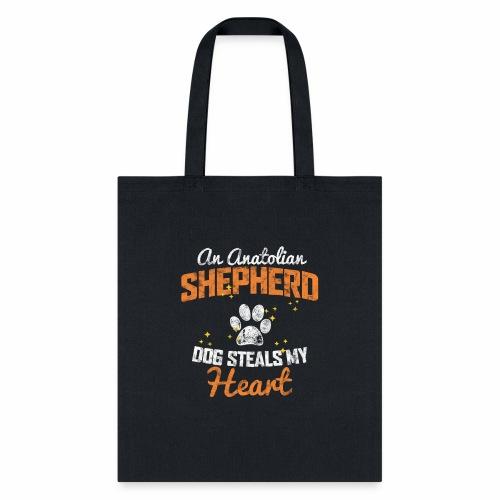 AN ANATOLIAN SHEPHERD DOG STEALS MY HEART - Tote Bag