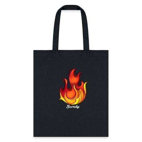 Scorchy White Logo - Tote Bag