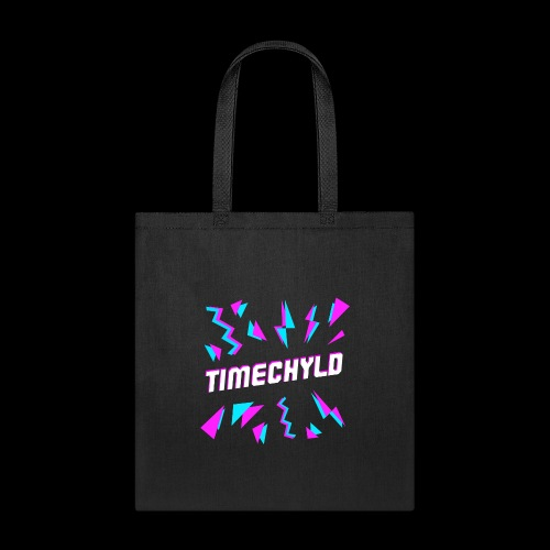 Timechyld Logo with Retro Pattern - Tote Bag
