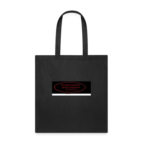 Damaged Records Black and Red Oval logo - Tote Bag