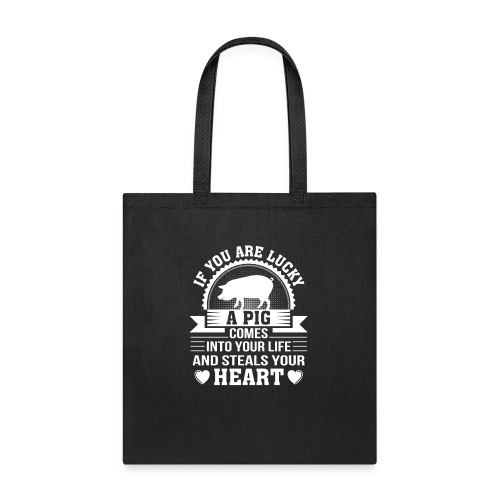 Mini Pig Comes Your Life Steals Heart - Tote Bag