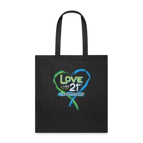 Down Syndrome Love (Blue/White) - Tote Bag