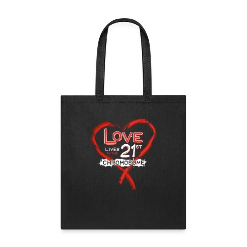 Down Syndrome Love (Red/White) - Tote Bag