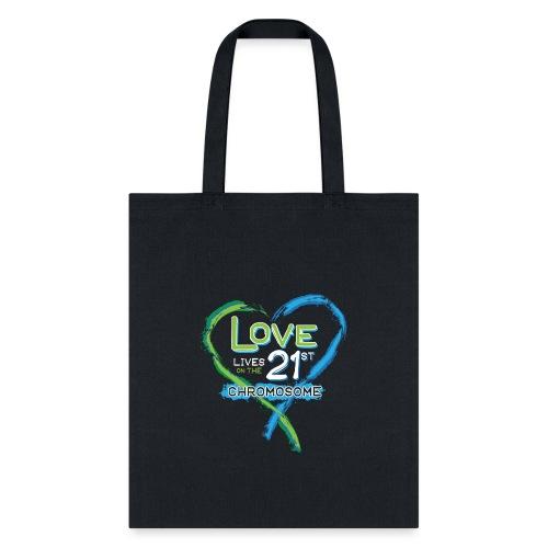 Down Syndrome Love (Blue/White) - Tote Bag