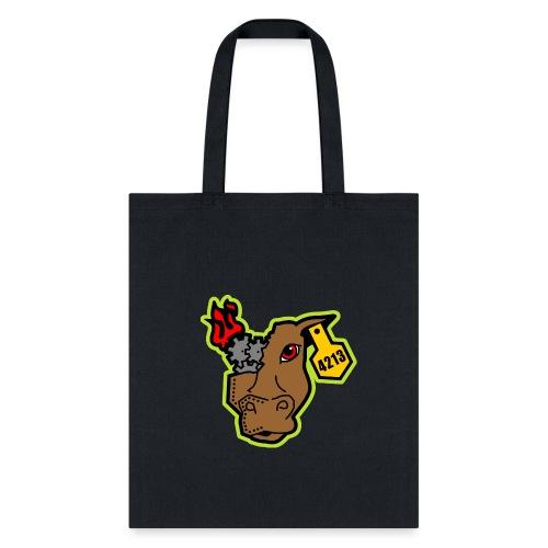 MetalCowRobotics Logo with Green Outline - Tote Bag