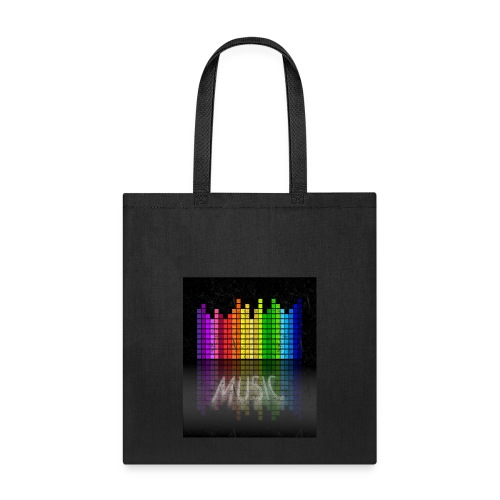 Music-sound waves Graphic T-shirt - Tote Bag