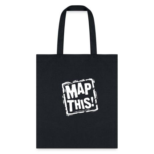 MapThis! White Stamp Logo - Tote Bag