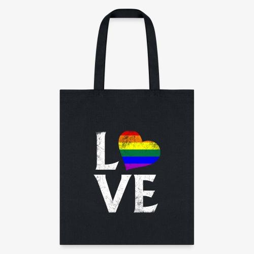 LGBTQ Pride Stacked Love - Tote Bag