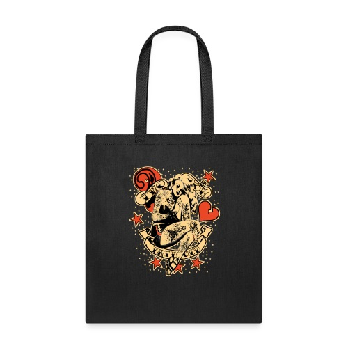 Screwed & tattooed Pin Up Zombie - Tote Bag