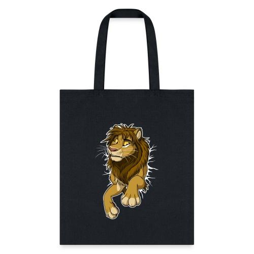 STUCK Lion (white cracks) - Tote Bag
