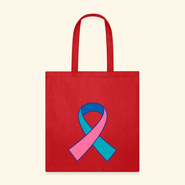 Homewise Shopper Thyroid Cancer Ribbon Awareness Tote Bag