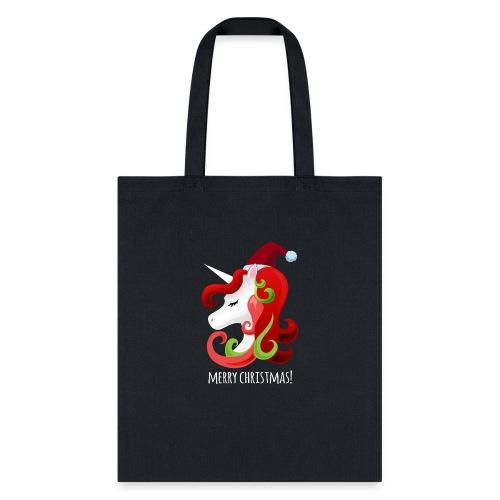 Unicorn Merry Christmas | Christmas Unicorn - Tote Bag