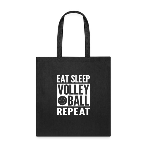 Eat Sleep Volleyball Repeat - Tote Bag