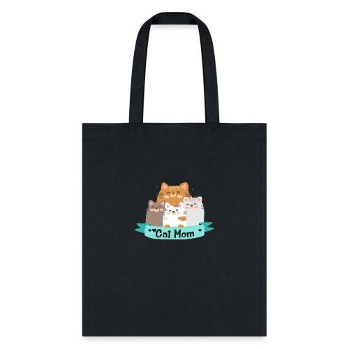 Cat MOM, Cat Mother, Cat Mum, Mother's Day - Tote Bag