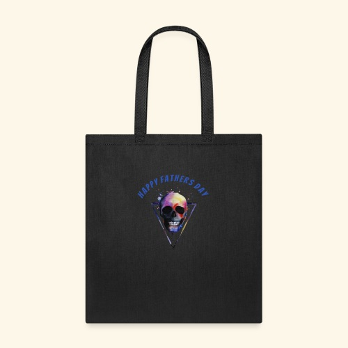 Happy fathers day skull Tee T shirt - Tote Bag