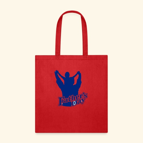 Fathers Day Child And Father Design - Tote Bag