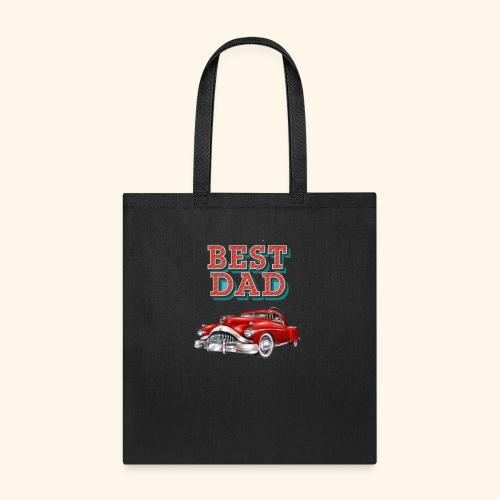 Best Dad Classic Car Design Fathers Day - Tote Bag