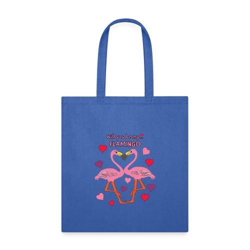 Will You be my Flamingo Valentine Kisses - Tote Bag