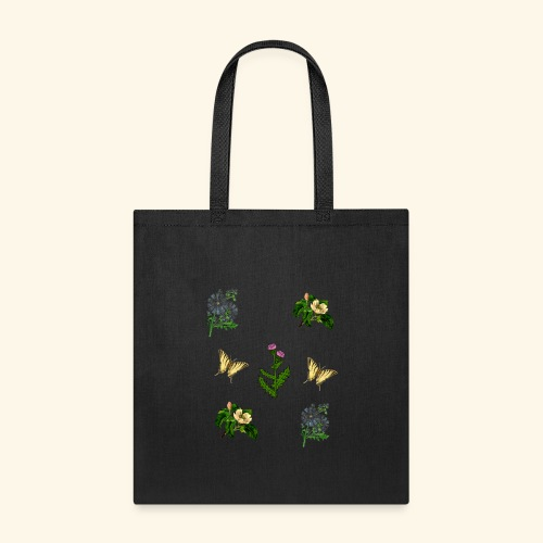 vintage bloom Botanical Design - Tote Bag