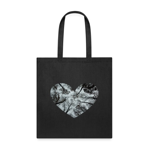 Heart Abstract Black and White Trees - Tote Bag