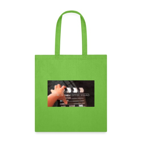 Sub to be in coffee squad picture - Tote Bag