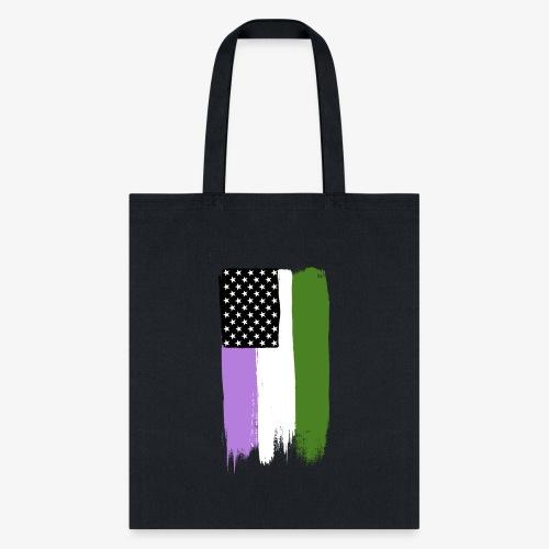 Genderqueer Pride Stars and Stripes - Tote Bag