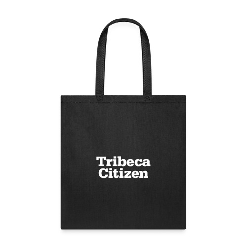 tribeca citizen stacked logo in white - Tote Bag
