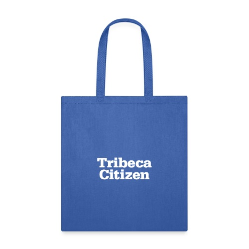 tribeca citizen stacked logo in white - Tote Bag