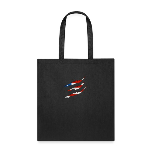 3D American Flag Claw Marks T-shirt for Men - Tote Bag