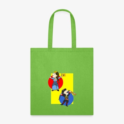 Cartoon - Pontios/lyra & Pontia/flag - Tote Bag