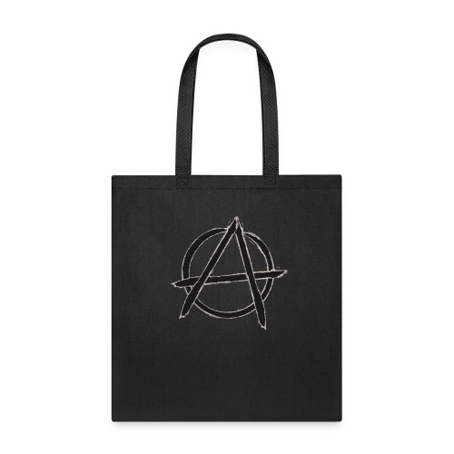 Anarchy in black silver - Tote Bag