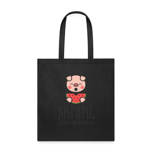 Just A Pig Enjoying Some Watermelon - Tote Bag