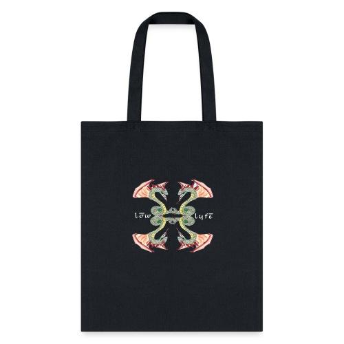 Lowlyfe Logo w/ Exterior Text - Tote Bag