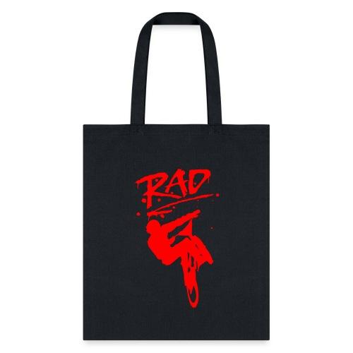 RAD BMX Bike Grafitti 80s Movie Radical T shirts - Tote Bag