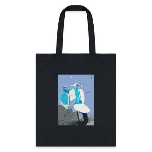 Retro Blue Vespa - Tote Bag
