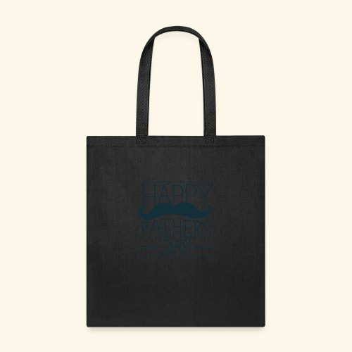 Fathers Day Mustache Design - Tote Bag