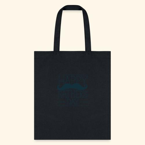 Fathers Day Mustache Design - Tote Bag