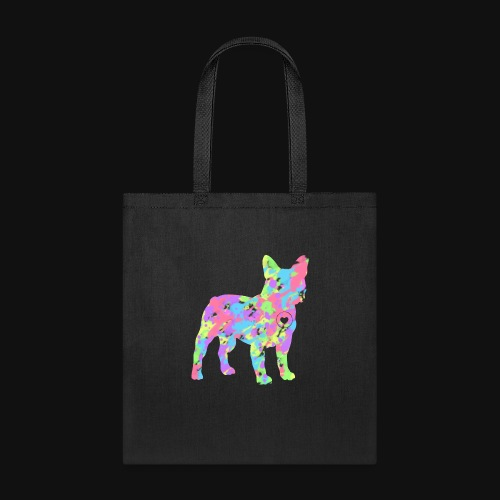 Frenchie love splatter - Tote Bag
