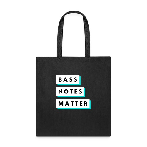 Bass Notes Matter Teal - Tote Bag