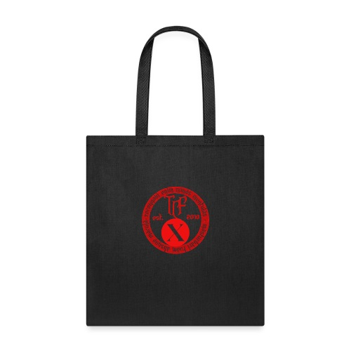 10th Anniversary Medallion - Red Marble - Tote Bag