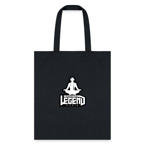 Enter The Legend Music B/W - Tote Bag