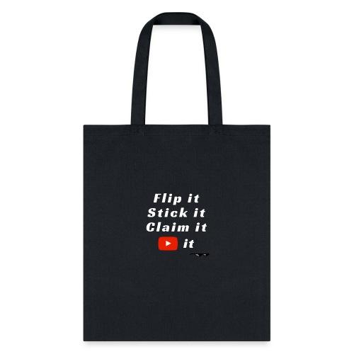 Flip It White Design T-Shirt - Back Flip Inverted - Tote Bag