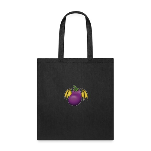 Eggplant Logo With White Outline - Tote Bag