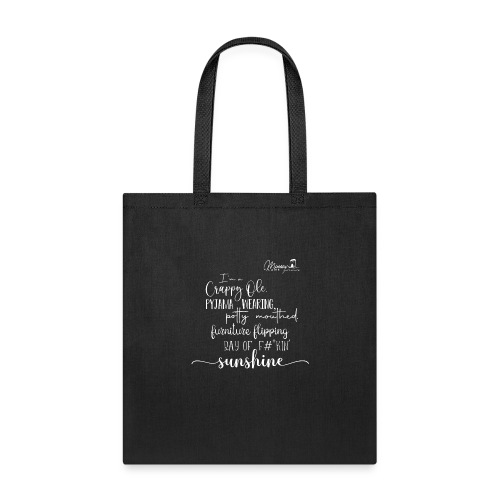 Ray of Sunshine - White text - Tote Bag