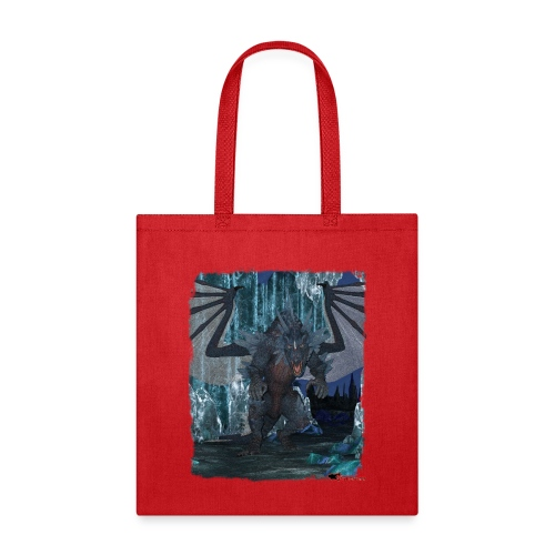 Wyldesigns: Ice Dragon In Crystal Cave - Tote Bag